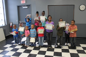 Everyone with their certificates!